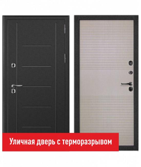 Входная дверь Форпост Дверной континент ТЕРМАЛЬ беленый дуб - с терморазрывом