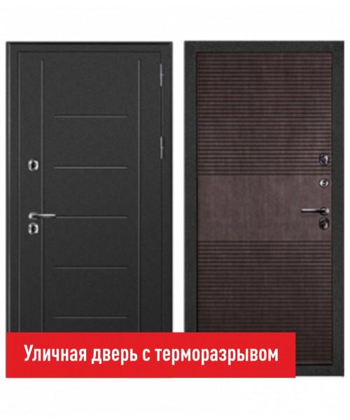 Входная дверь Форпост Дверной континент ТЕРМАЛЬ венге - с терморазрывом
