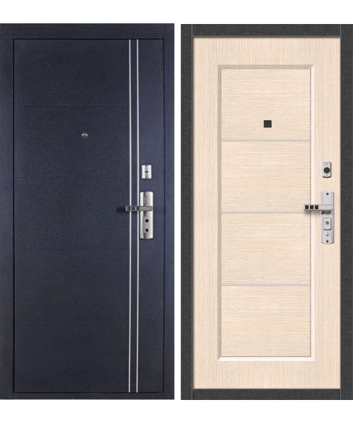 Входная дверь ФОРПОСТ С-128 беленый дуб