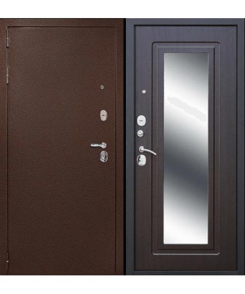 Входная дверь Форпост Дверной континент Рубикон Зеркало (Эко Венге)