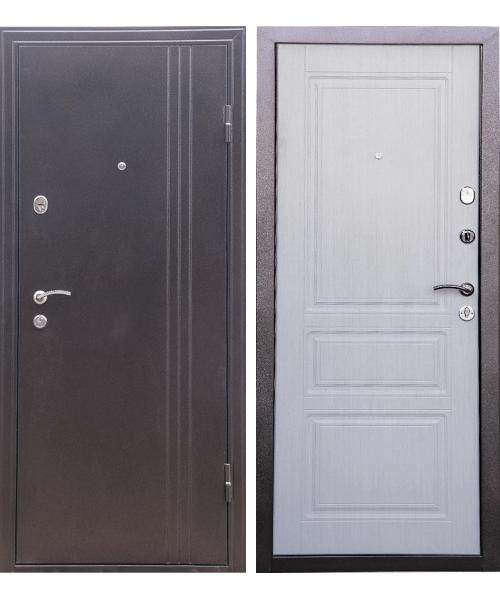 Входная дверь ДК ТУРИН (беленый дуб)