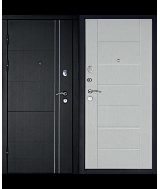 Входная дверь Форпост Дверной континент ТЕПЛОЛЮКС (Беленый Дуб)