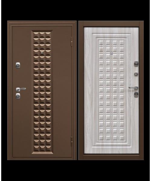 Входная дверь КОНТУР Беленый Дуб