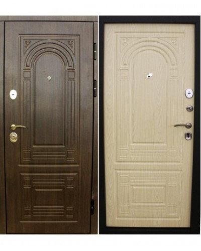 Входная дверь Форпост Дверной континент ФЛОРЕНЦИЯ В мокко / беленый дуб