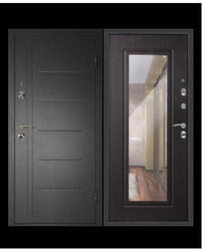 Входная дверь СИТИ-ЗЕРКАЛО венге
