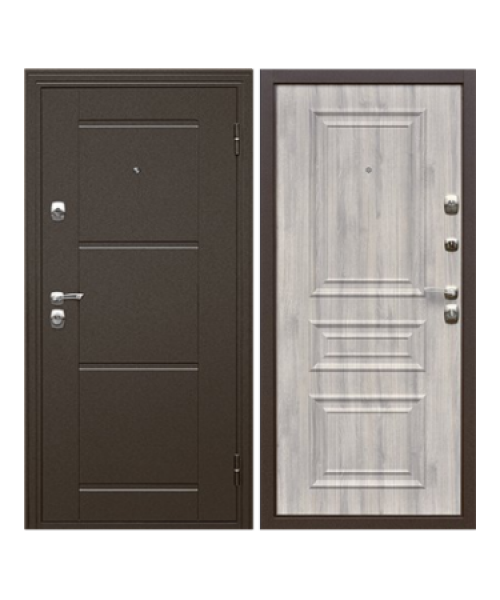 Входная дверь Дверной континент Эстет беленый дуб