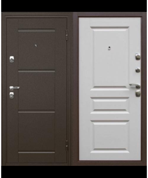 Входная дверь ДК Эстет матовый белый
