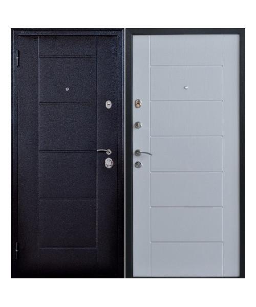 Входная дверь ФОРПОСТ КВАДРО 2 БЕЛОЕ ДЕРЕВО