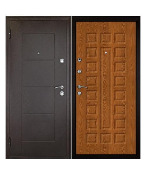 Входная дверь ФОРПОСТ КВАДРО ЗОЛОТОЙ ДУБ