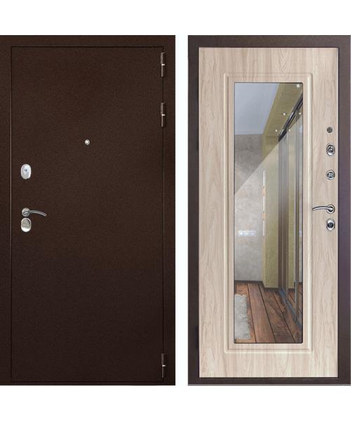Входная дверь Форпост Дверной континент Рубикон Зеркало (Сандал белый)