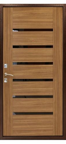 Двери Форпост /  Входная дверь ДК ОПТИМА С (ОРЕХ)